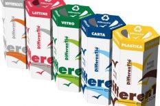 Cardboard bins for sorted waste