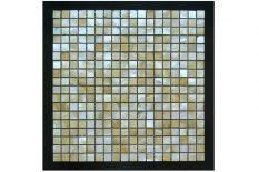 MOTHER OF PEARL MOSAIC LAGUNA SQUARE GOLD LIP