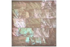 MOTHER OF PEARL ABALONE PINK RECTANGULAR CRACKLED SURFACE