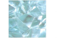 MOTHER OF PEARL HAMMER SHELL BLUE CRAZY CUT SURFACE