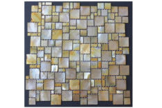MOTHER OF PEARL MOSAIC OCEAN MULTISIZE GOLD LIP