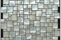 MOTHER OF PEARL MOSAIC OCEAN MULTISIZE WHITE LIP