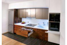 Cucina sospesa elegante e raffinata