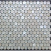MOTHER OF PEARL MOSAIC OCEAN ROUND WHITE LIP