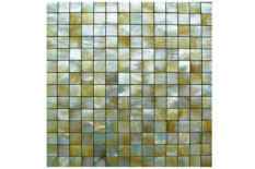 MOTHER OF PEARL MOSAIC OCEAN SQUARE GOLD LIP