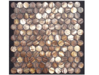MOTHER OF PEARL MOSAIC ROUND BROWN