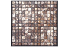 MOTHER OF PEARL MOSAIC SQUARE BROWN