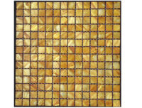 MOTHER OF PEARL MOSAIC SQUARE GOLD