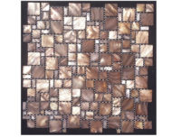 MOTHER OF PEARL MOSAIC MULTISIZE BROWN