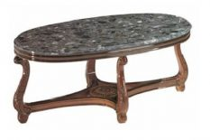 BIG OVAL TABLE BEN WITH GREEN MARBLE TOP