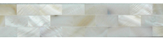 MOTHER OF PEARL RESIN FILLET SHELL BORDER CREAM