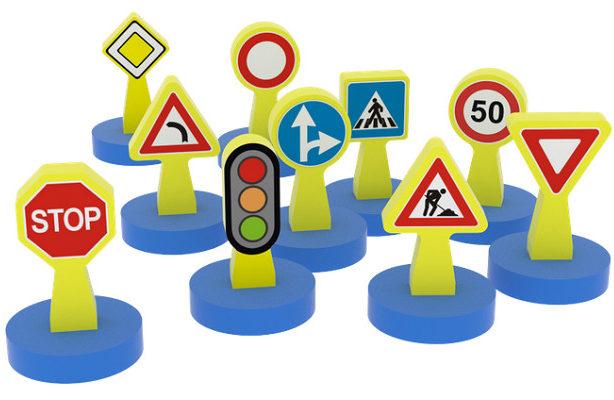 Road signs 10 pz.