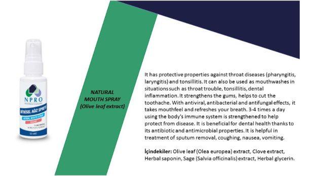 Spray Naturale per la bocca (Estratto di foglie di ulivo)