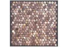 MOTHER OF PEARL MOSAIC HEXAGONAL BROWN