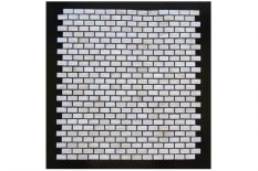 MOTHER OF PEARL MOSAIC LAGUNA RECTANGULAR CREAM SHELL