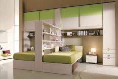 Bedroom bridge with partition