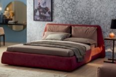Upholstered double bed with 3D matress