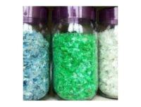 Scaglie di plastica PET trasparente