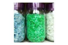 Clear pet bottle flake plastic scrap